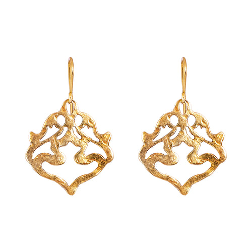 Rock Finders Keepers | Nina Hammered Earrings | Gold | VOULT.COM.AU