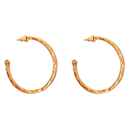 Rock Finders Keepers | Phoenix Large Hoop Earrings | Rose | VOULT.COM.AU
