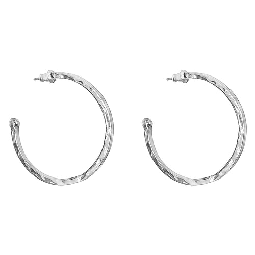 Rock Finders Keepers | Phoenix Large Hoop Earrings | Silver | VOULT.COM.AU