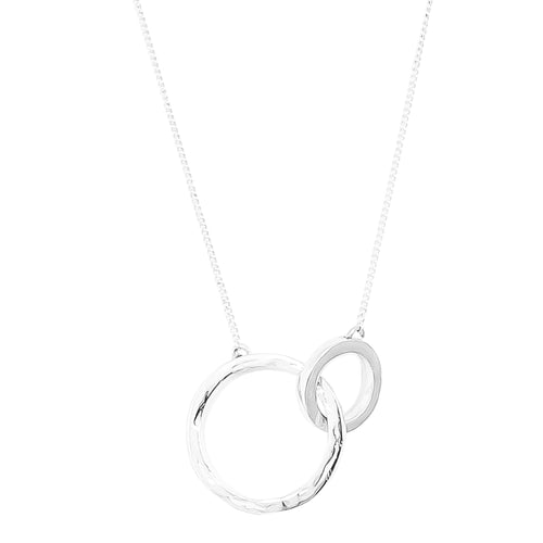 Rock Finders Keepers | Phoenix Large Linked Ring Necklace - Mid | Silver | VOULT.COM.AU