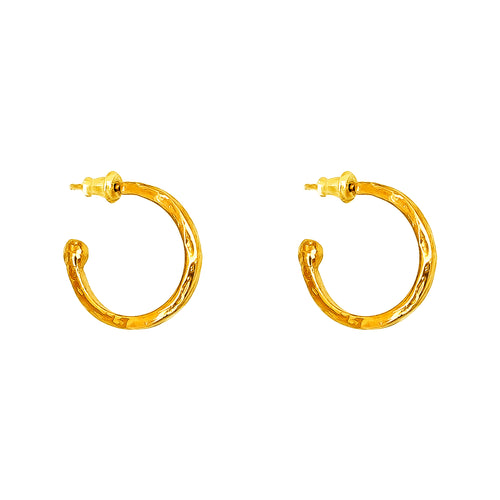 Rock Finders Keepers | Phoenix Medium Hoop Earrings | Gold | VOULT.COM.AU