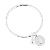 Rock Finders Keepers | Teo Bangle | Hammered Silver Disc And Ball | VOULT.COM.AU