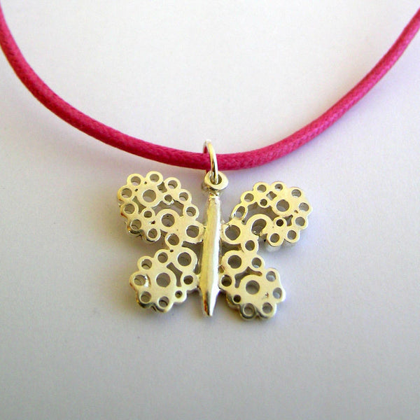 Butterfly Necklace - Red