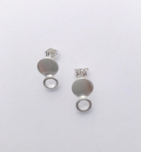 Sterling Silver Large round dot earrings