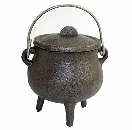 Cast Iron Cauldron With Pentagram Symbol