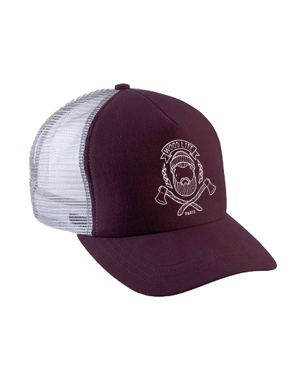 Casquette filet Trucker - Woodlife - Bordeaux - Woodlife - Les Bûcherons