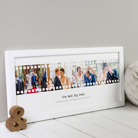 Personalised Four Photo Negative Print