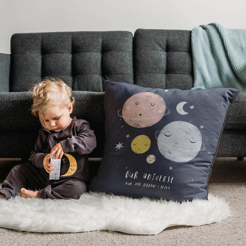 Personalised 'Our Universe' Family Planets Cushion