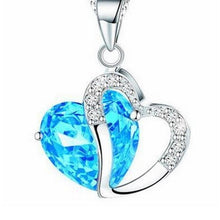 Load image into Gallery viewer, Heart Rhinestone Silver Pendant