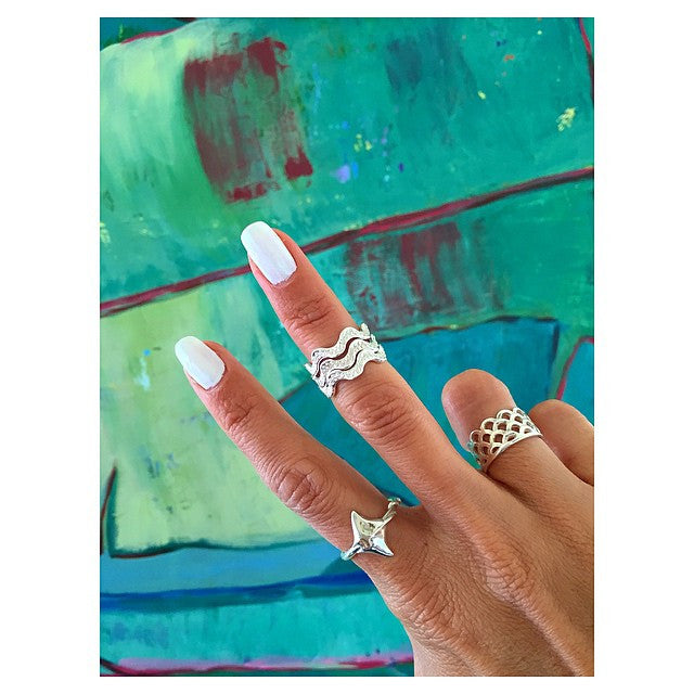 Ring Stack, He'e mid rings, Keani Jewelry - Maui Hawaii