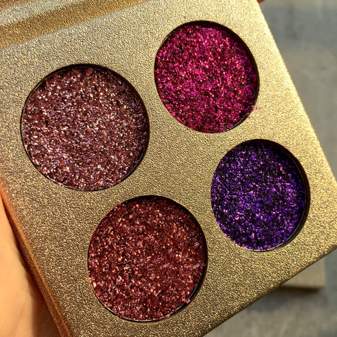 Pressed Glitter Eyeshadow Palette - Secret Beauties