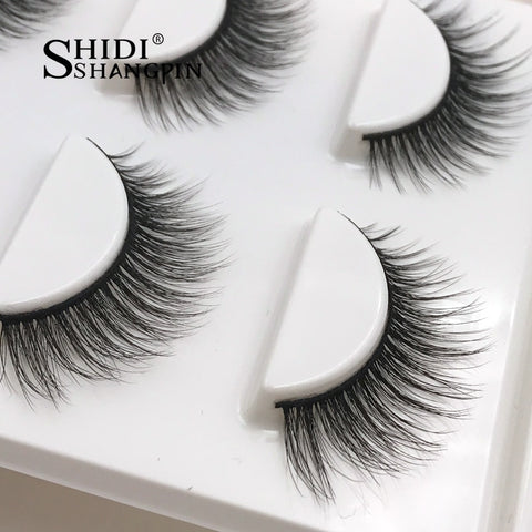 Image of New 3 Pairs of Natural False Eyelashes - Secret Beauties