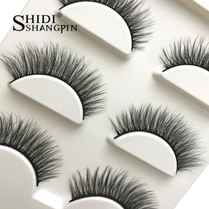 New 3 Pairs of Natural False Eyelashes