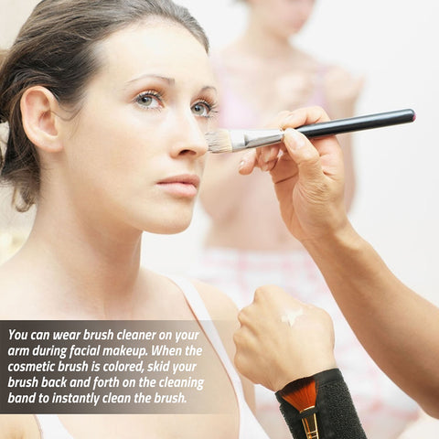 MAKEUP COLOR SWITCH BRUSH CLEANER BAND - Secret Beauties