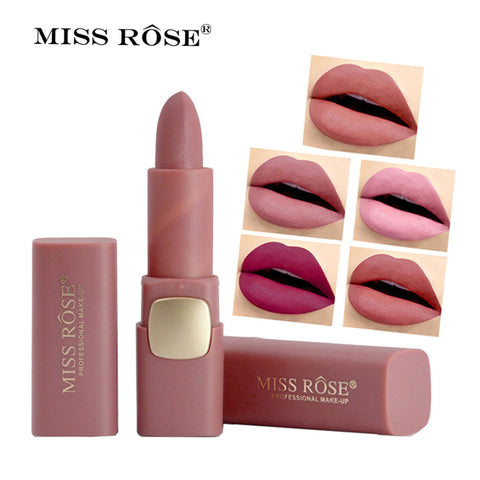 Miss Rose Matte Waterproof Lipstick - Secret Beauties