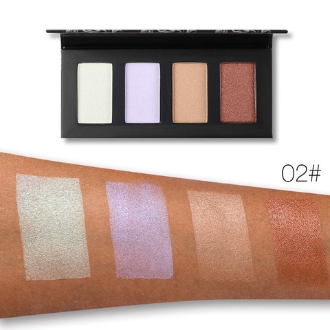 Image of UCANBE 4 Colors Glow Highlighter Palette - Secret Beauties