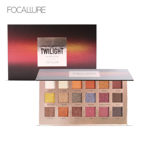Image of FOCALLURE 18Pcs Highly Pigmented Matte Glitter Eyeshadow Palette - Secret Beauties