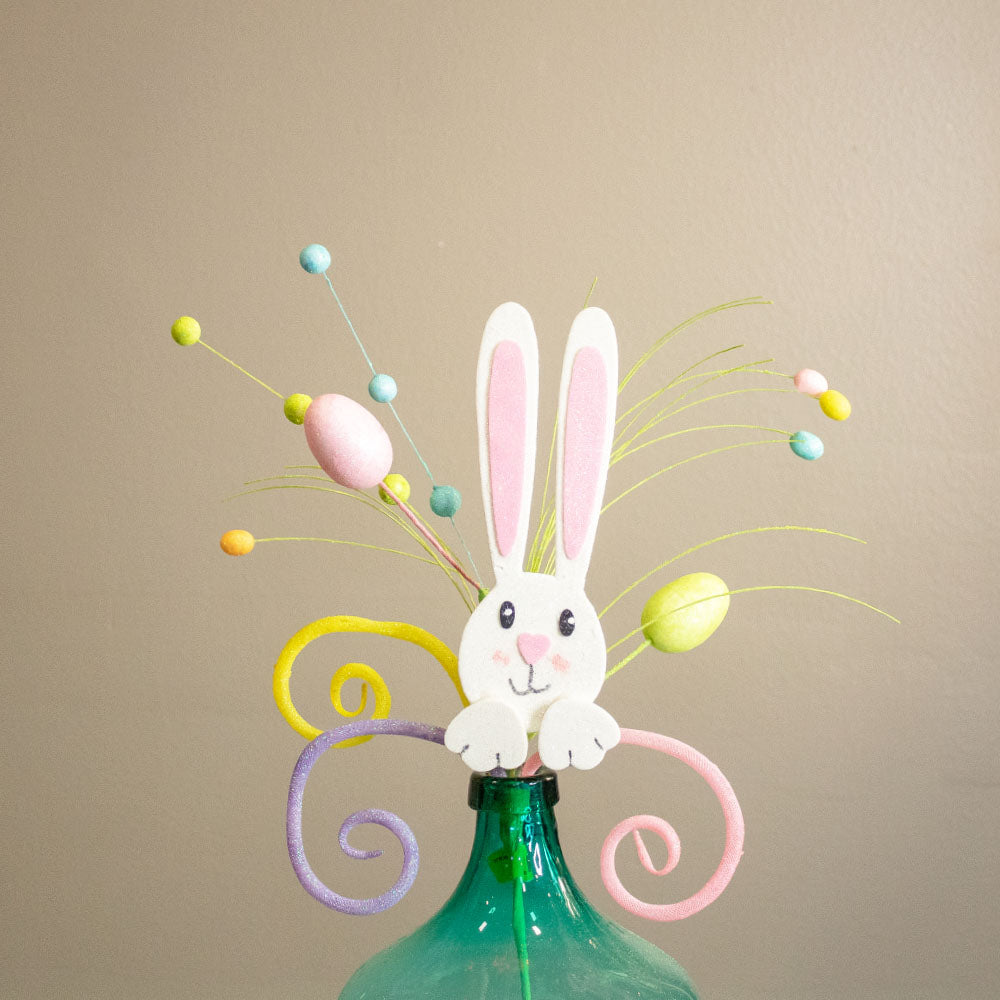 Easter Bunny Swirl and Eggs Spray