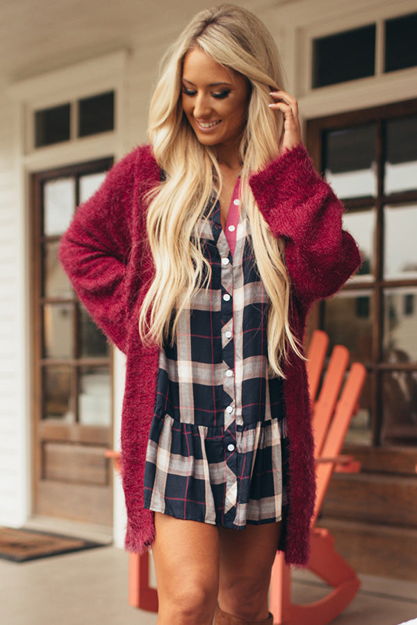 Fuzzy Wuzzy Cardigan in Rose