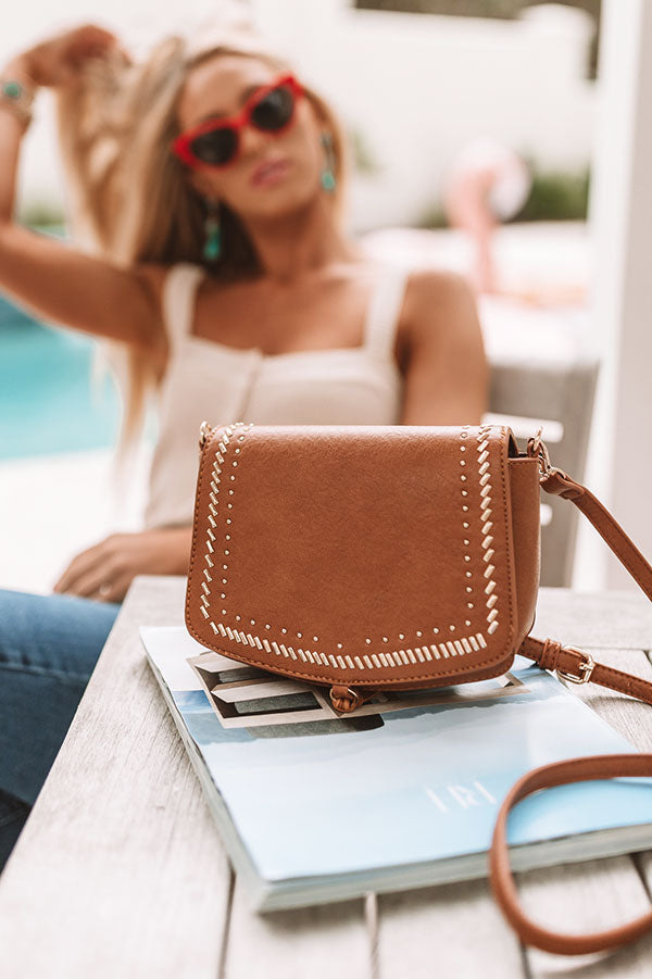 You're The One I Want Faux Leather Crossbody In Cinnamon