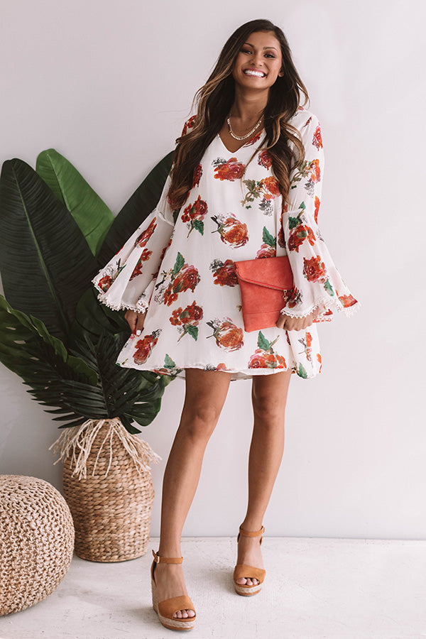 Bungalow Bombshell Floral Shift Dress