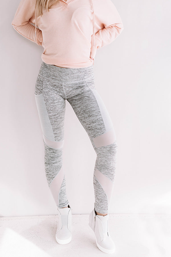 Spin Class Casual Pocket Mesh Legging