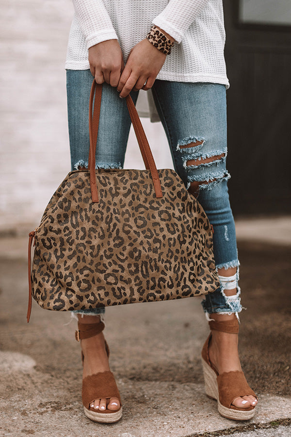 Styled For Paradise Leopard Canvas Tote