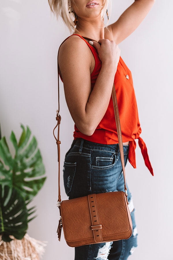 First Class To Florence Crossbody In Cinnamon