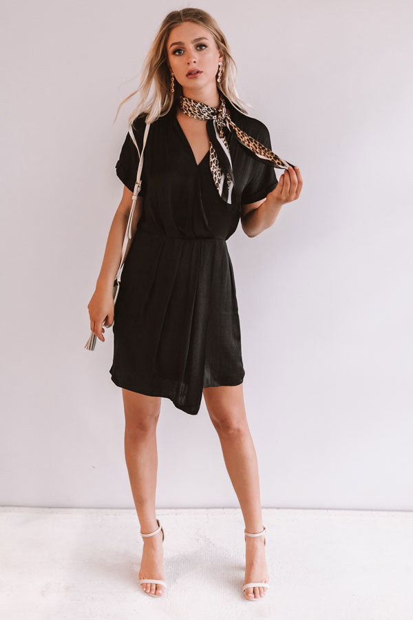 Upper East Side Sipping Dress in Black