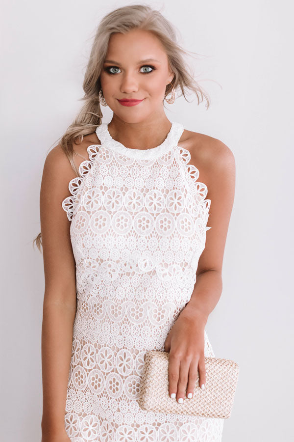 A Little Bubbly Crochet Midi Dress