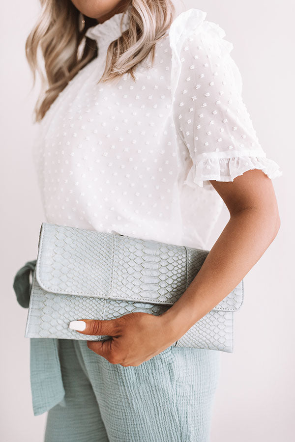 Influencer Fabulous Clutch In Light Slate