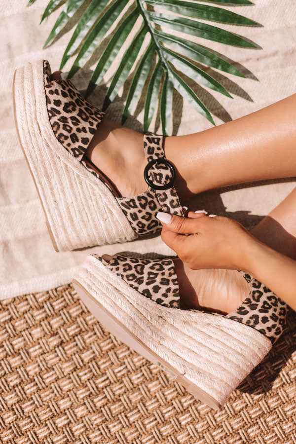 The Magnolia Leopard Espadrille Wedge