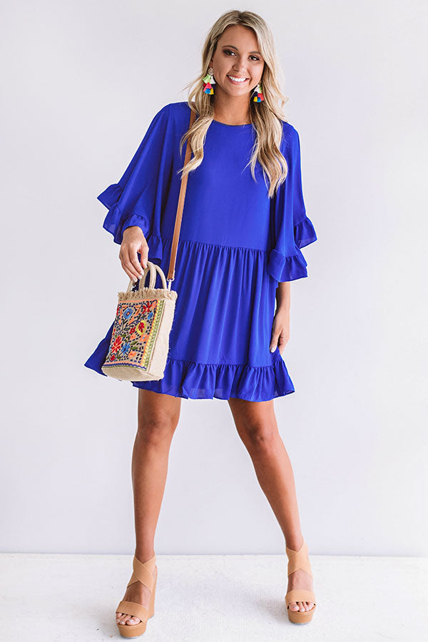 Sunshine Swing Shift Dress in Royal Blue