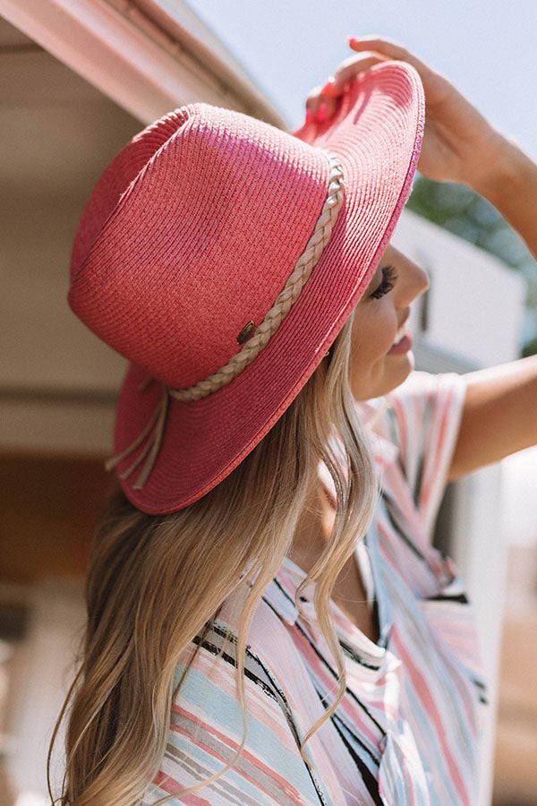 Sunrise Beach Walk Hat In Coral