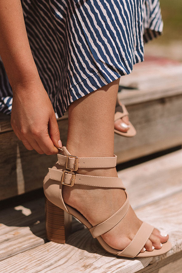 The Caylie Heel in Natural