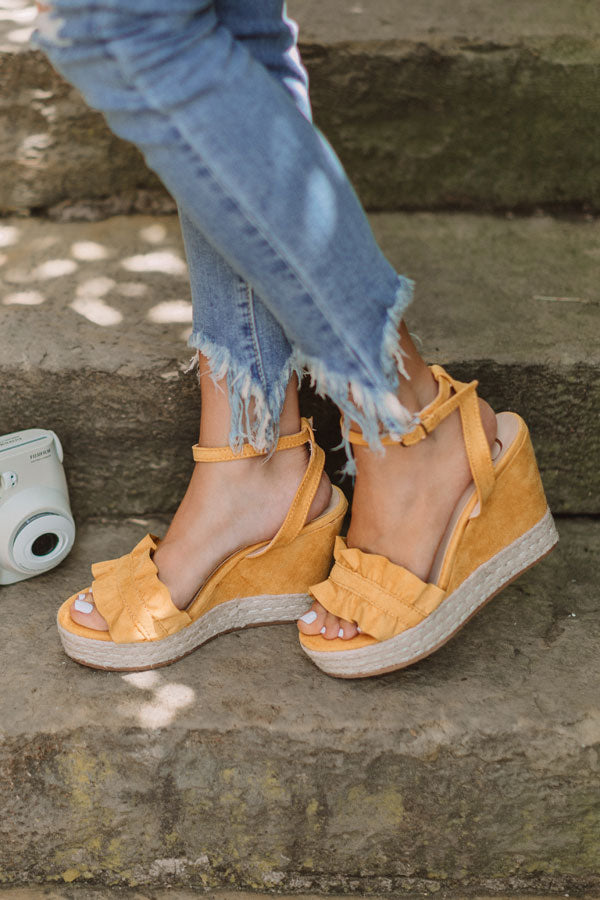 The Uptown Wedge In Mustard