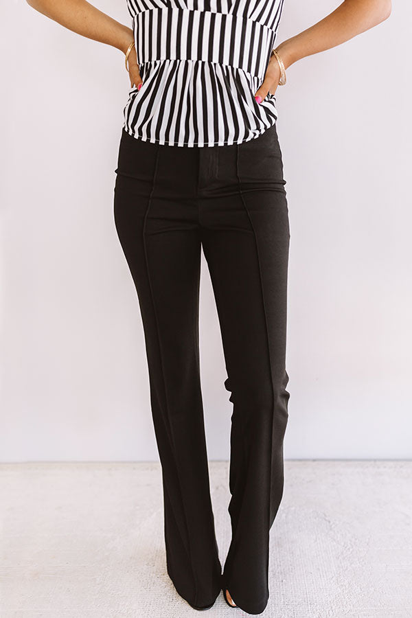 Stealing The Show High Waist Trousers In Black