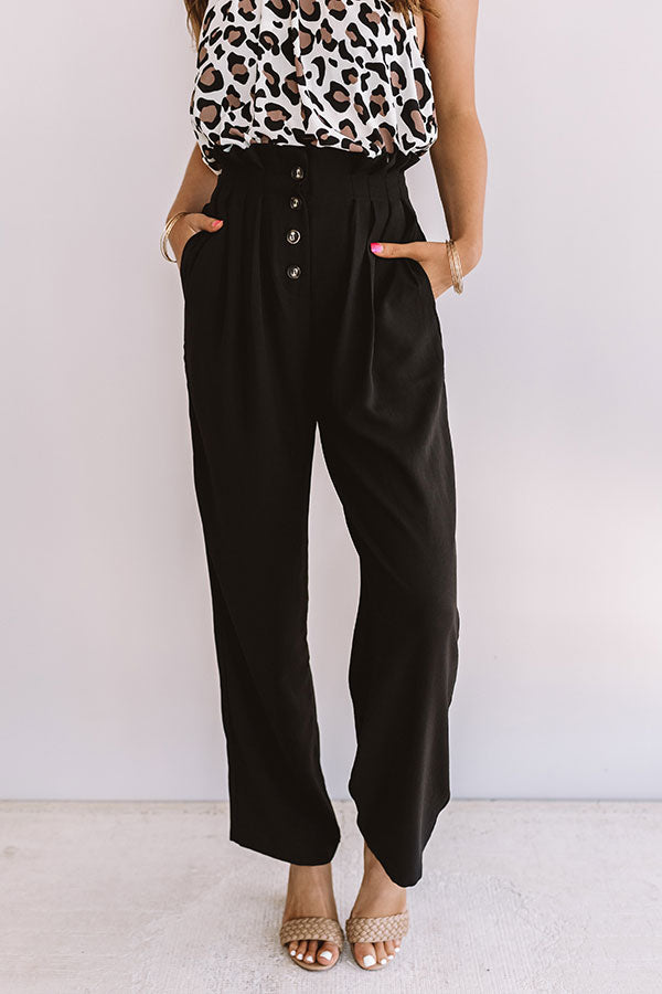 The Fletcher High Waist Trousers In Black