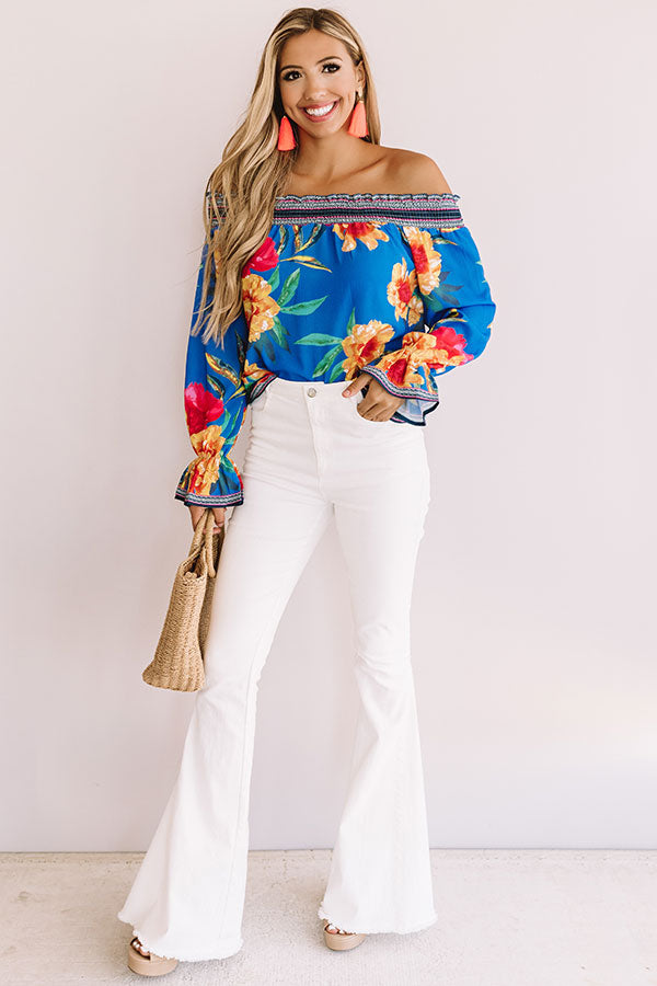 Cabana Fever Shift Top In Blue