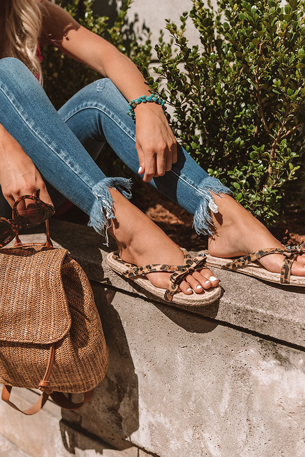 The Tessa Studded Sandal in Leopard
