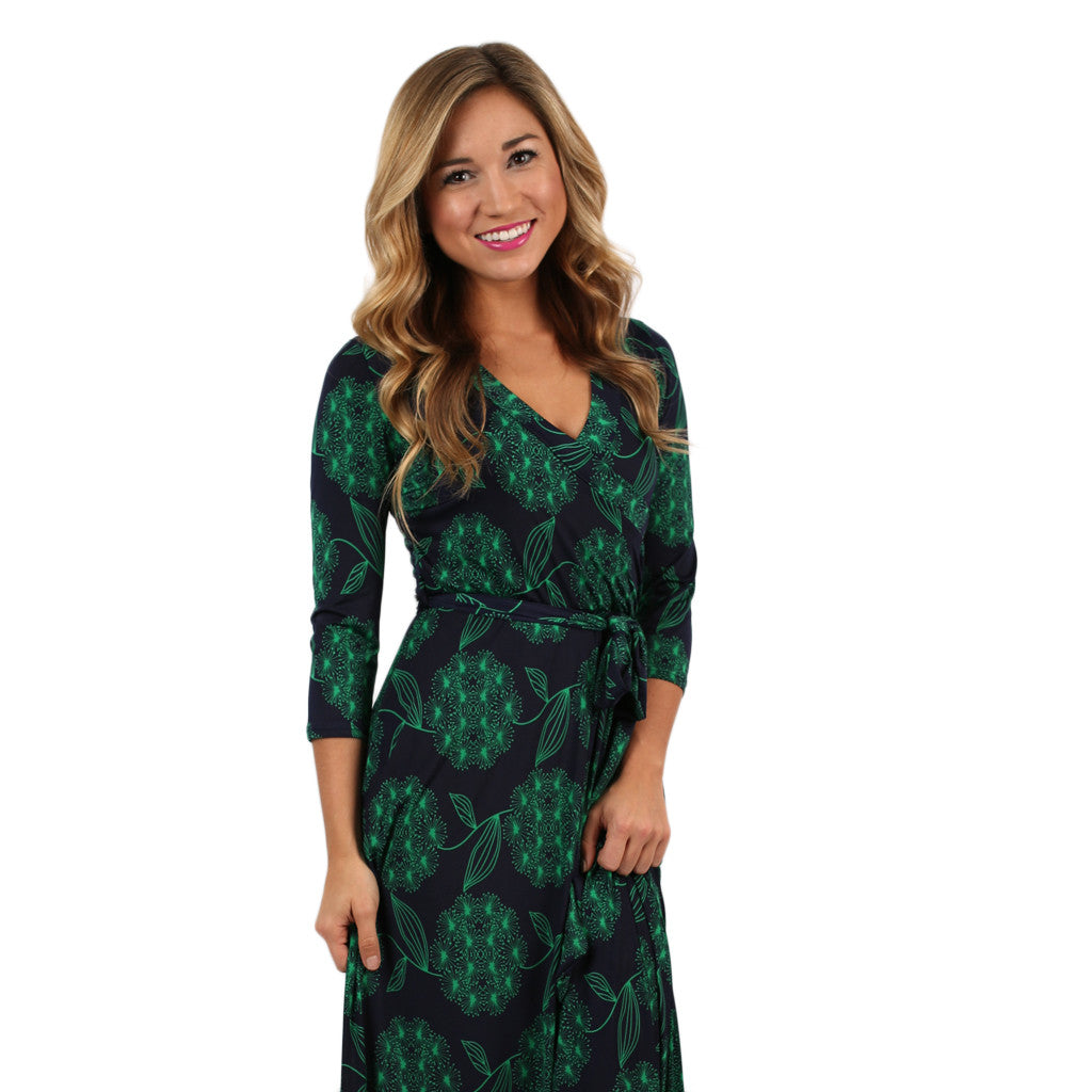 Love to Stun Fall Maxi in Green
