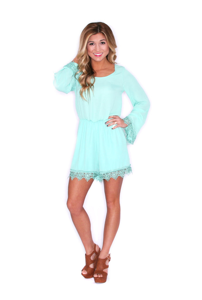 Girl Of Your Dreams Romper in Mint