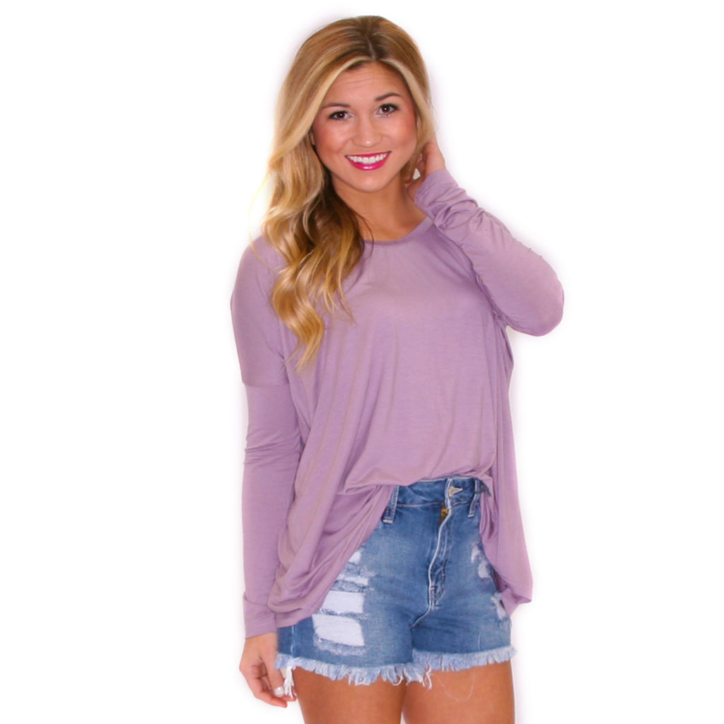 PIKO Tee Scoop Neck in Dusty Purple