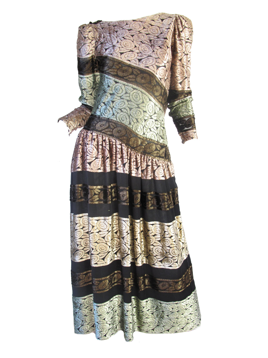 MARY MCFADDEN Burnout Dress