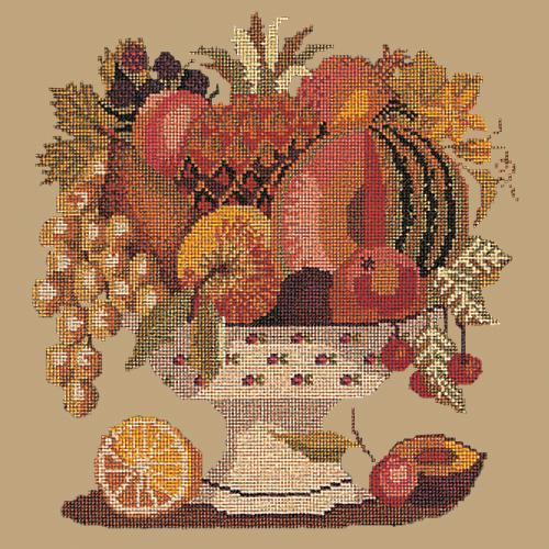Bowl of Fruit Needlepoint Kit Elizabeth Bradley Design Sand