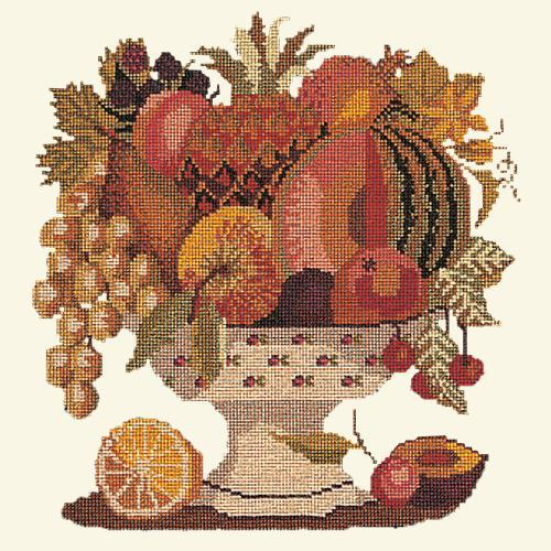 Bowl of Fruit Needlepoint Kit Elizabeth Bradley Design Winter White