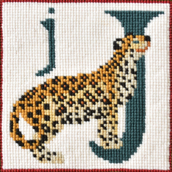 J-Jaguar Needlepoint Kit Elizabeth Bradley Design