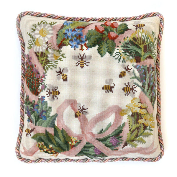 Wreath of Herbs Needlepoint Kit Elizabeth Bradley Design