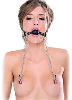 Nipple clamps with Gag Mouth
