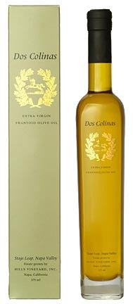 1 Case (12 Bottles) - Dos Colinas Extra Virgin Frantoio Olive Oil